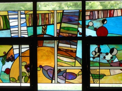 Seven Species Stained Glass by Phoenix Studios